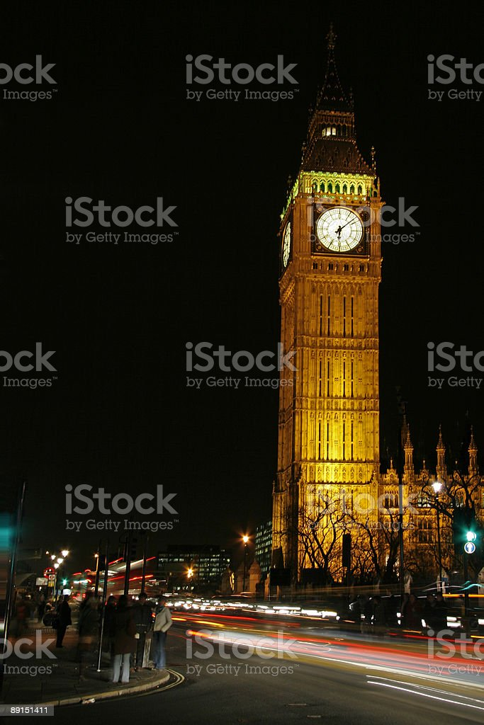 Big Ben - Houses of Parliament Westminster royalty-free stock photo