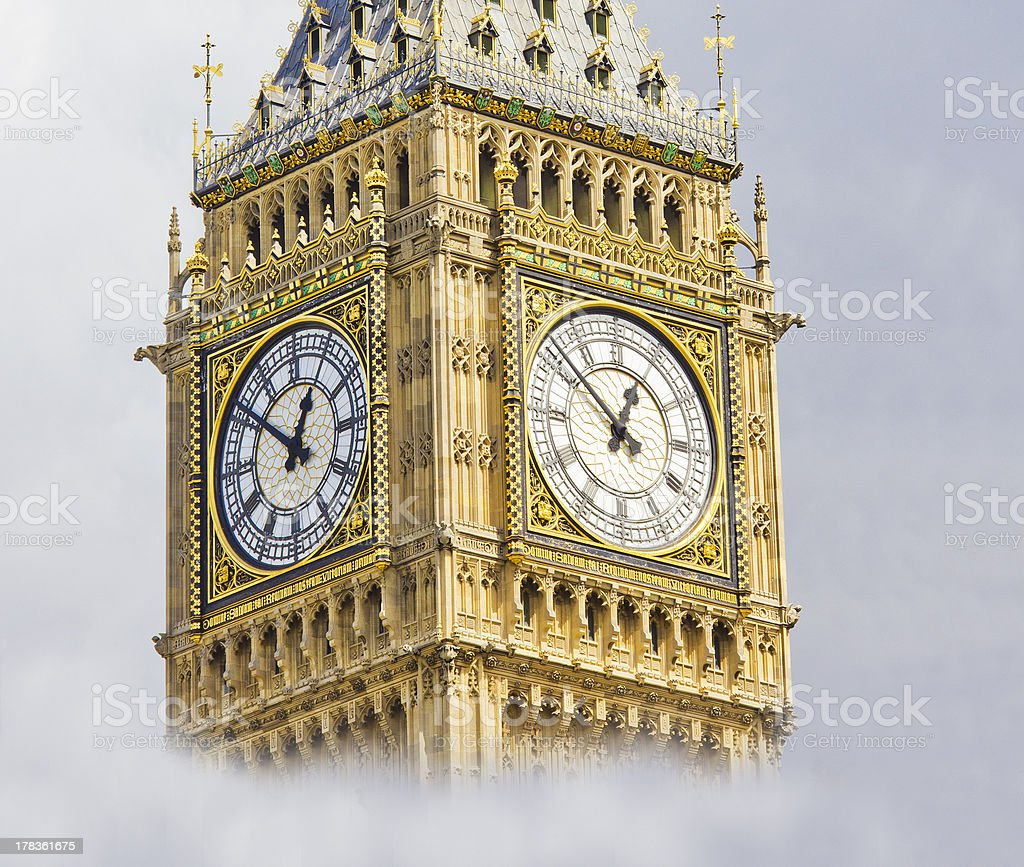 Big Ben in a cloudy day royalty-free stock photo