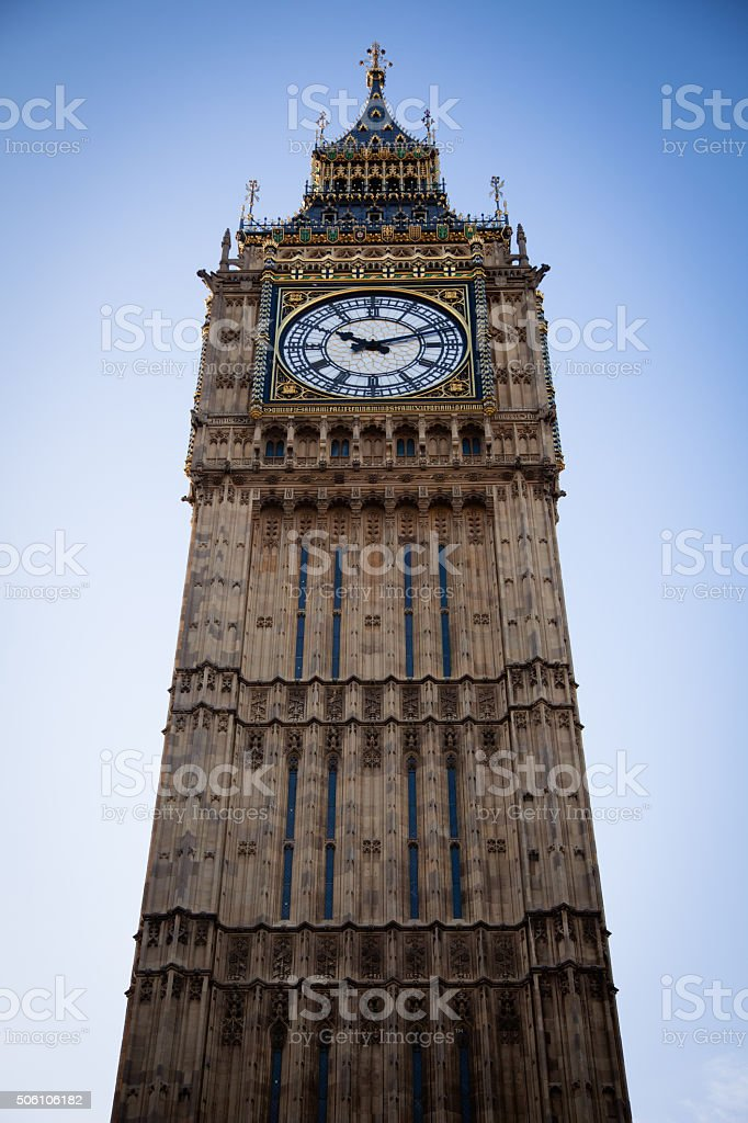 Big Ben in Central London stock photo