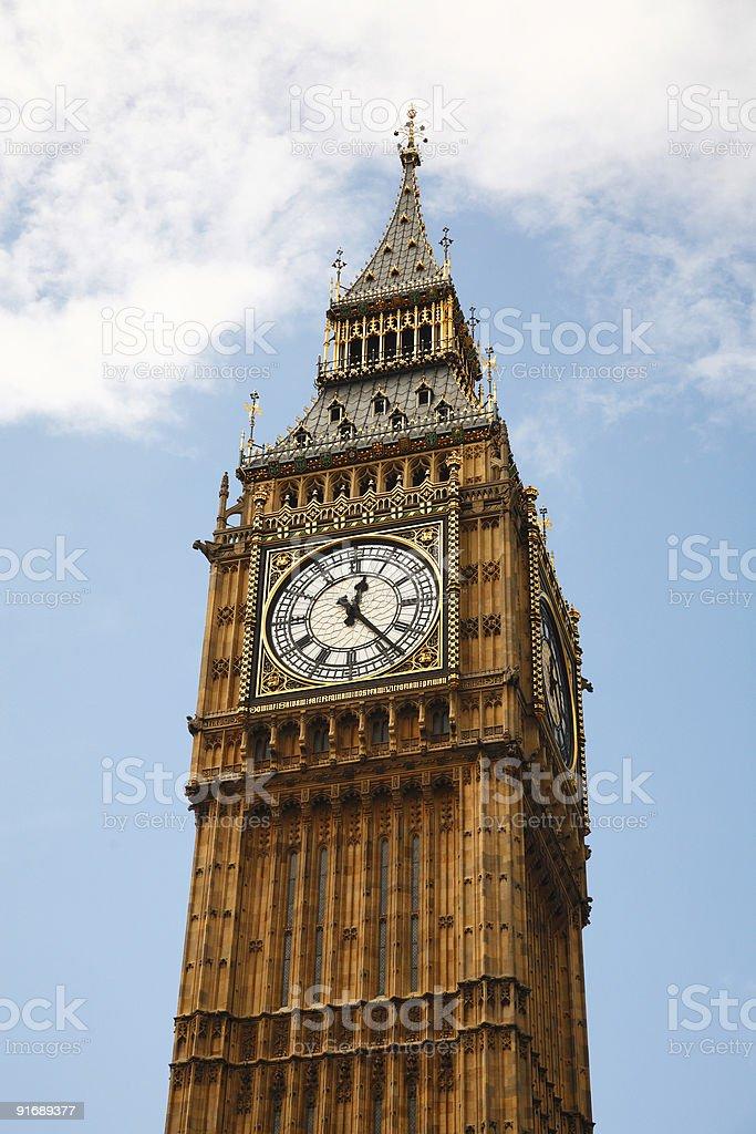 Big Ben in London, Englad royalty-free stock photo
