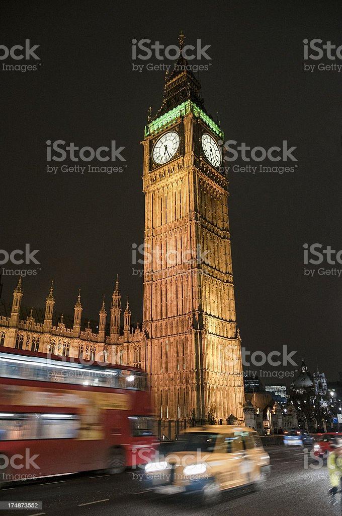 Big Ben In London, England At Night royalty-free stock photo