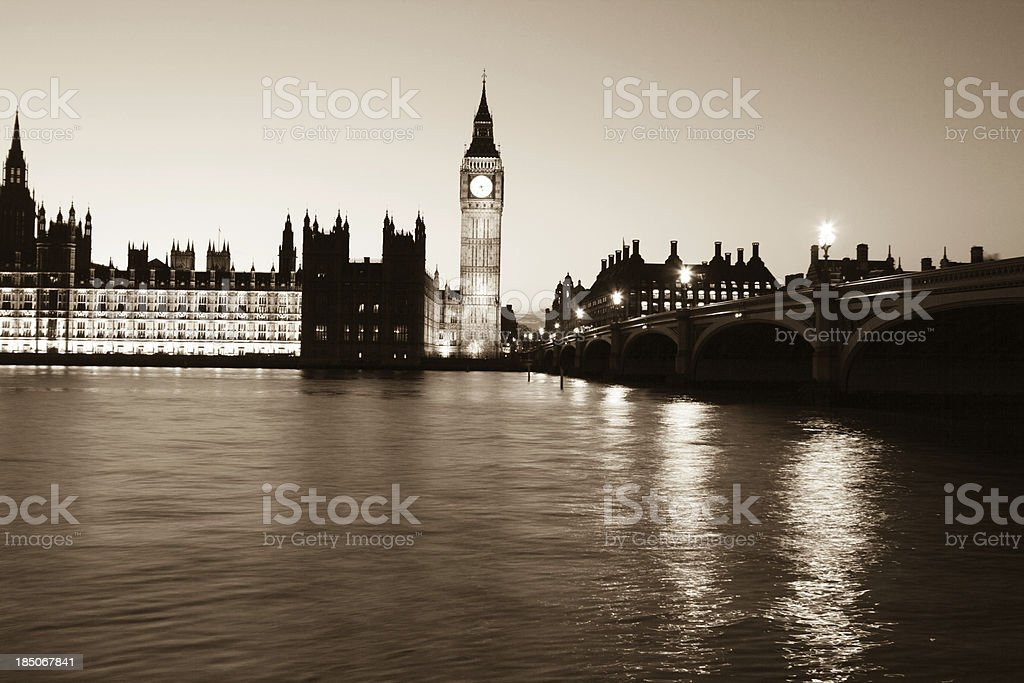 Big Ben in London, England royalty-free stock photo