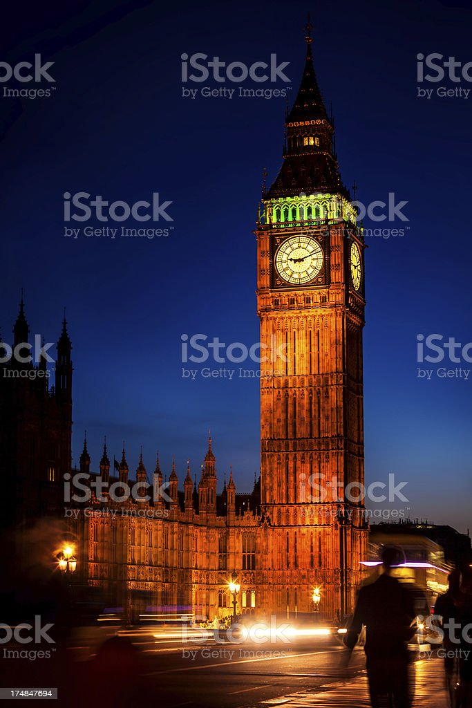 Big Ben in London royalty-free stock photo