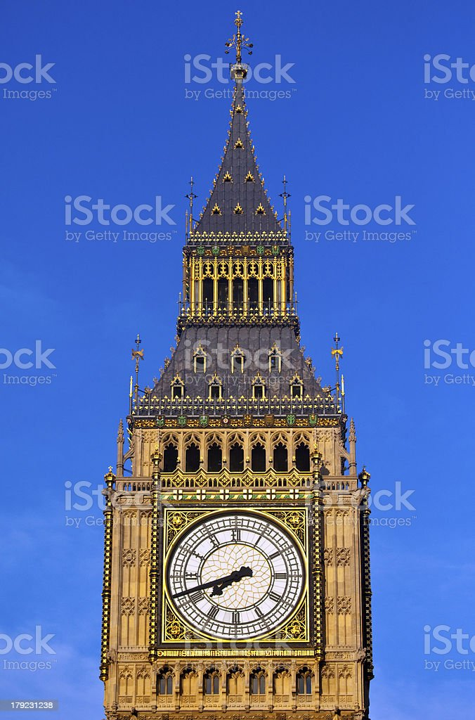 Big Ben (Houses of Parliament) in London royalty-free stock photo