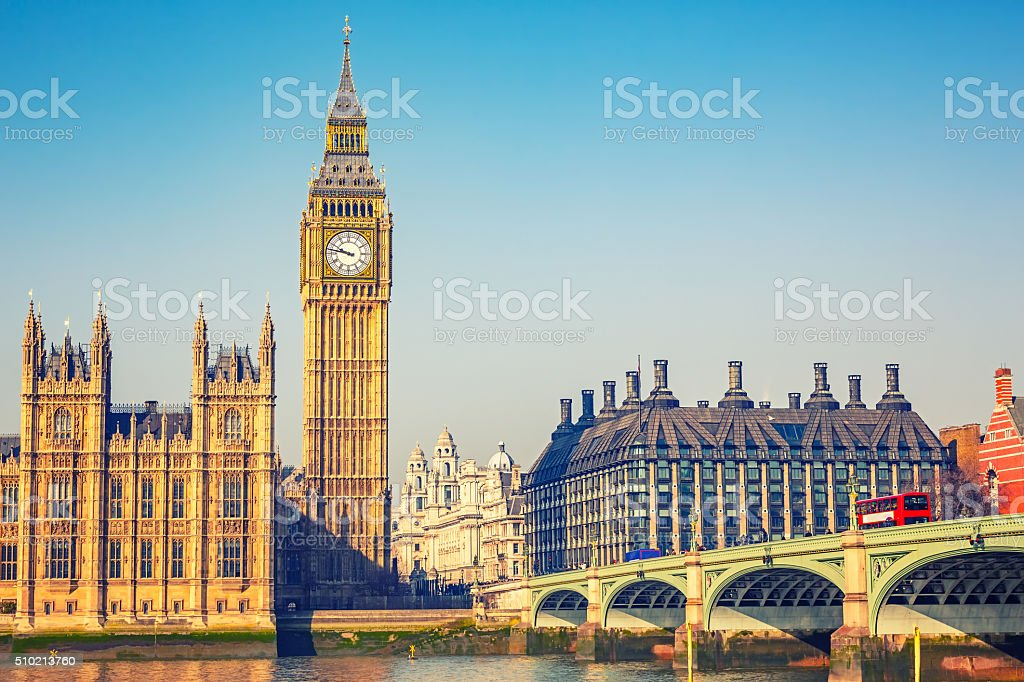 Big Ben in London stock photo