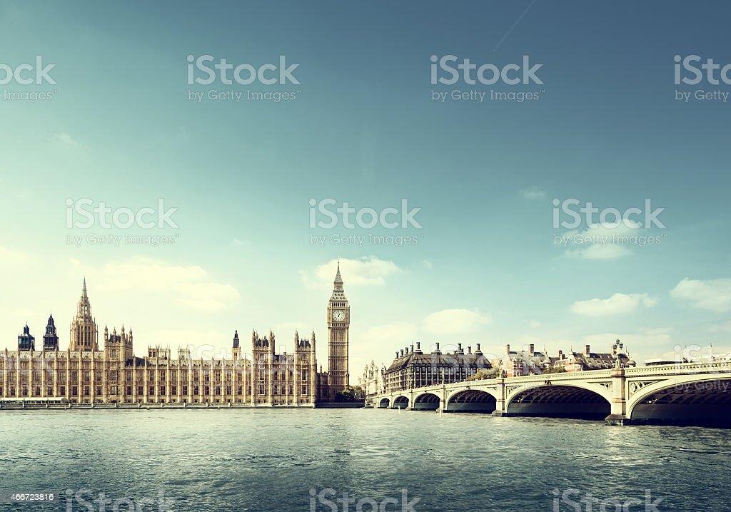 Big Ben in sunny day, London stock photo