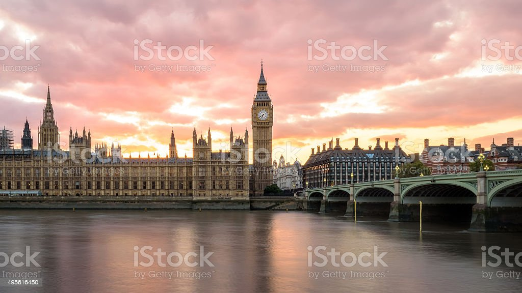 Big Ben in Sunset stock photo