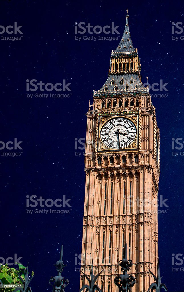 Big Ben in the Stars royalty-free stock photo