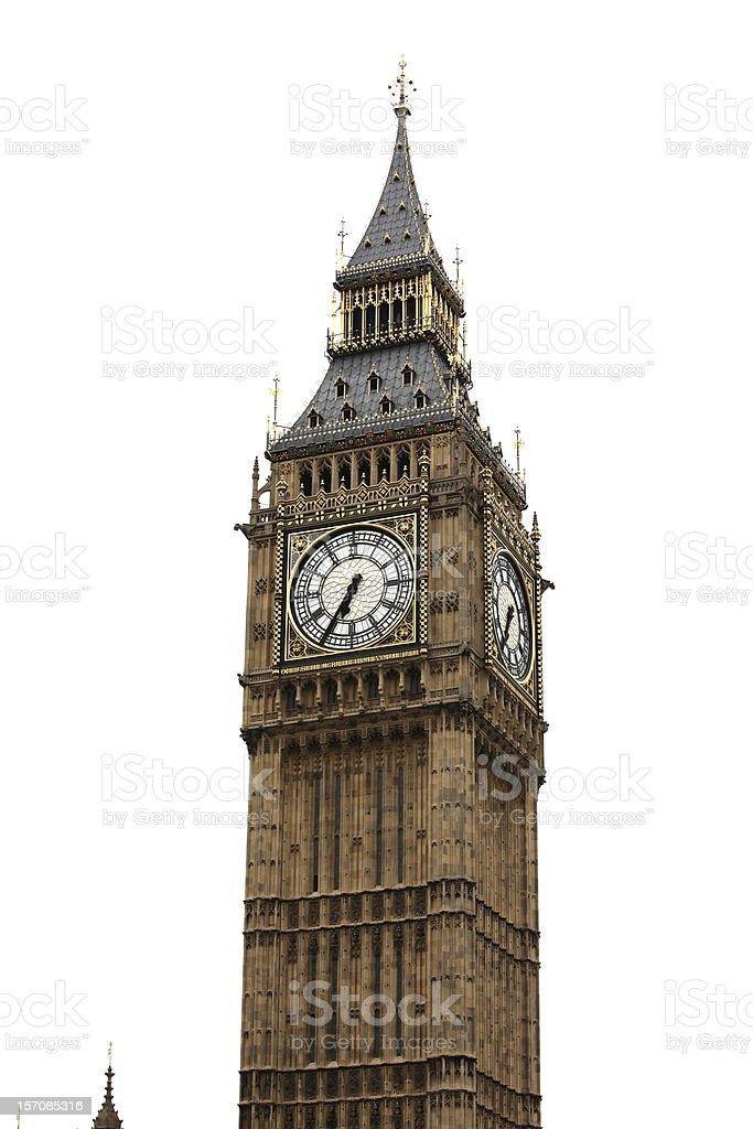 Big Ben isolated on white royalty-free stock photo
