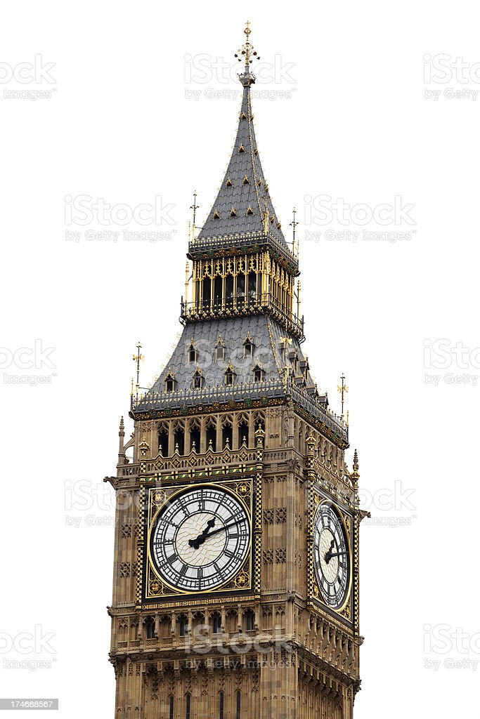 Big Ben Isolated royalty-free stock photo