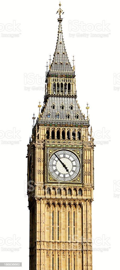Big Ben isolated stock photo