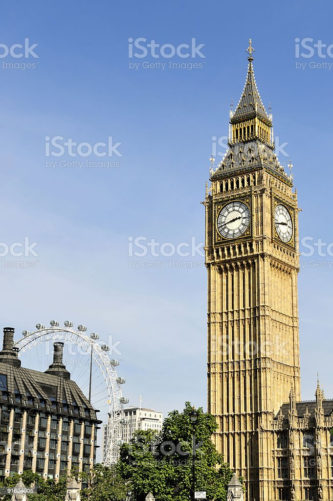 Big Ben, London, England, in the afternoon royalty-free stock photo