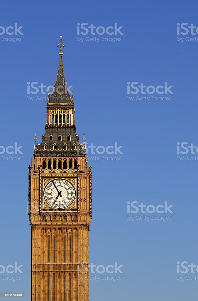 Big Ben on blue royalty-free stock photo