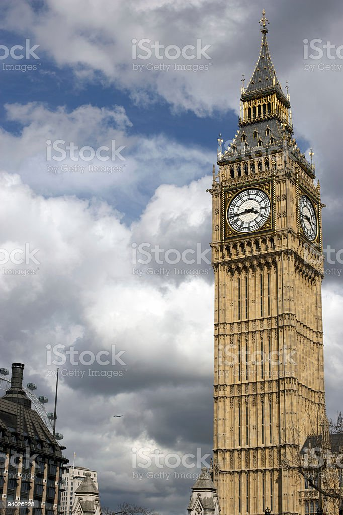 Big Ben on Cloudy Day royalty-free stock photo