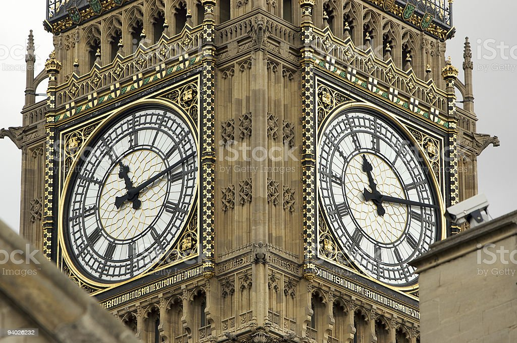 Big Ben on Gloomy Day royalty-free stock photo