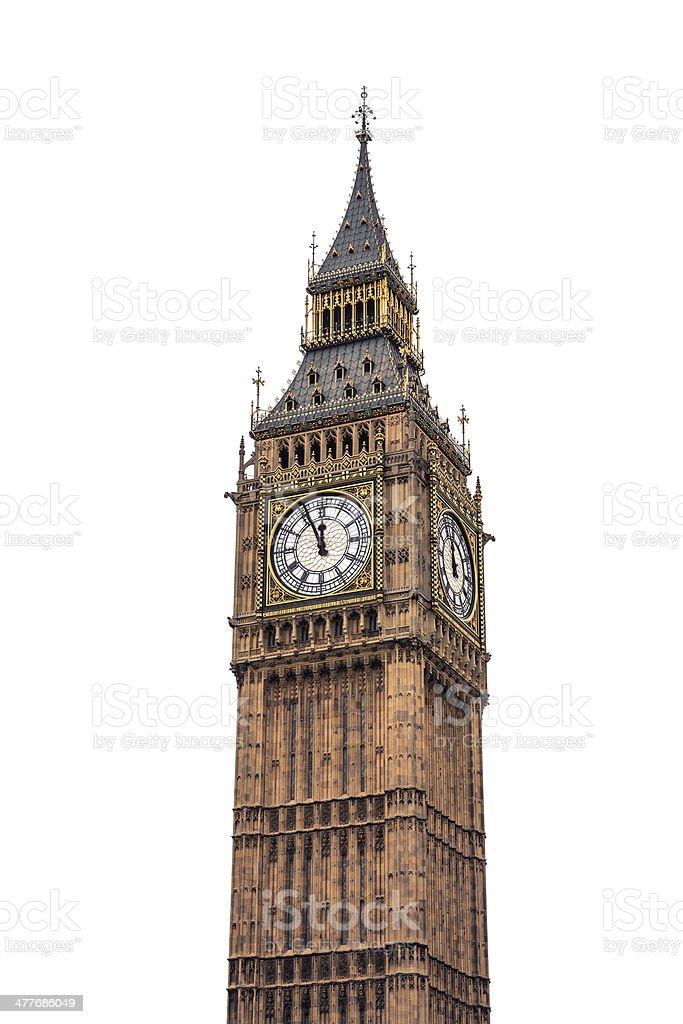 Big Ben On White Background stock photo