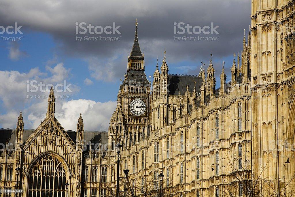 Big Ben overlooking Parliament stock photo