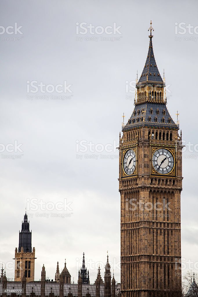 Big Ben Palace of Westminster Clock Tower royalty-free stock photo