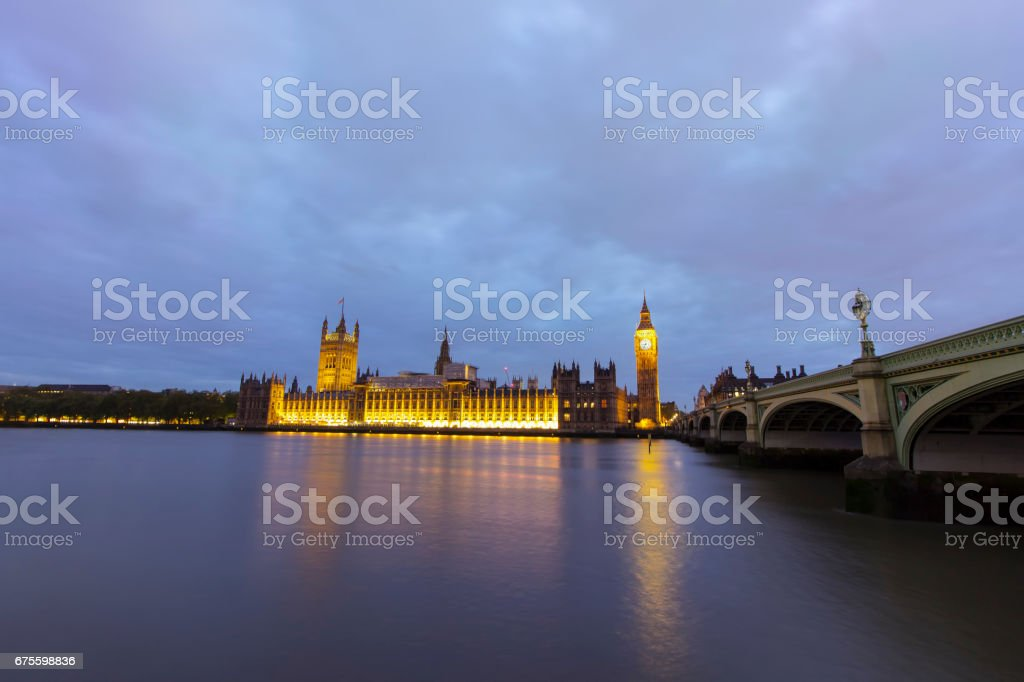 Big Ben, Parliament and Thames river in Westminster stock photo