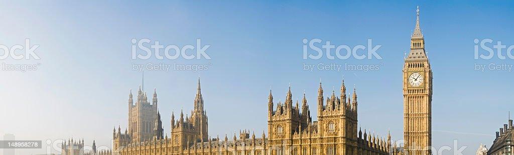 Big Ben Parliament panorama London royalty-free stock photo