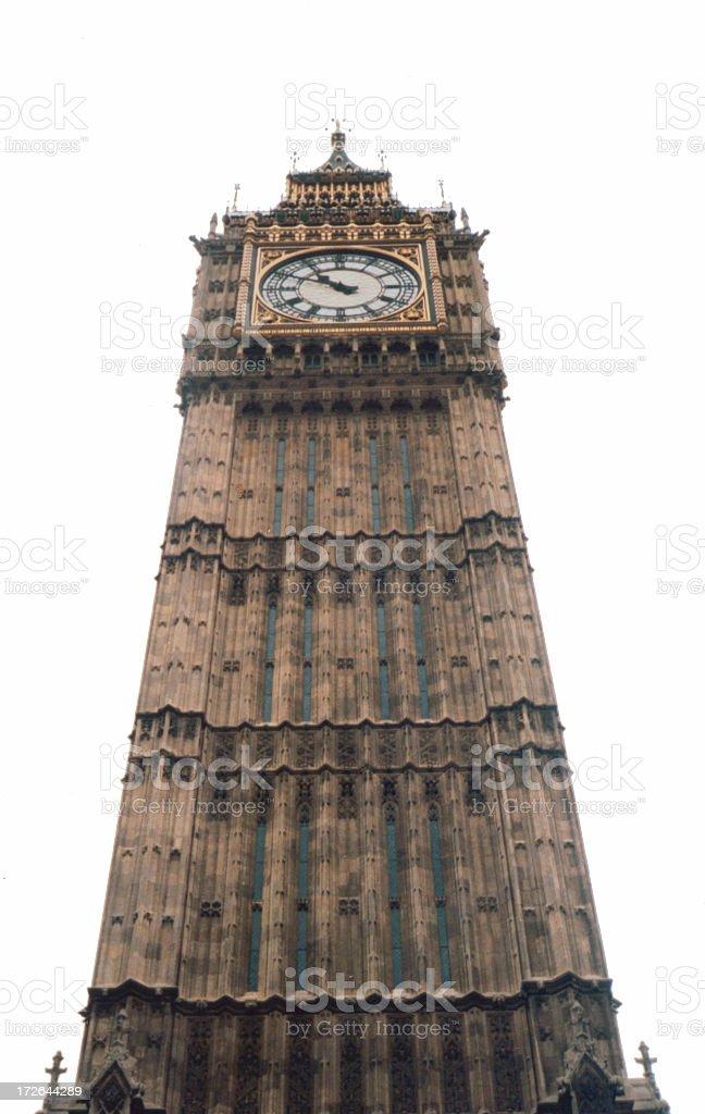 Big Ben (white background) royalty-free stock photo