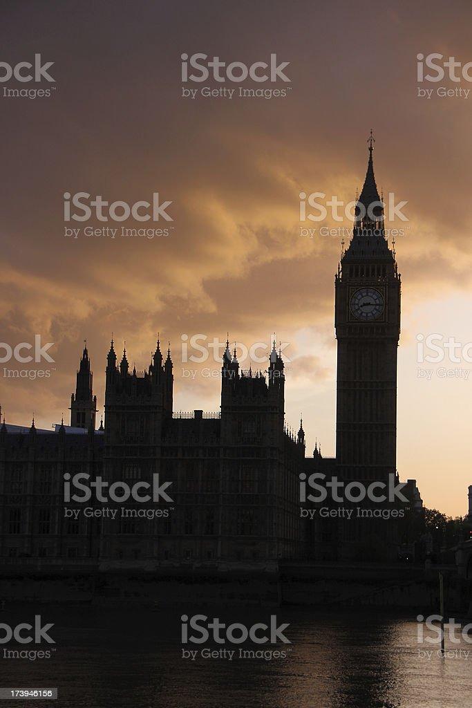 Big Ben silhouette royalty-free stock photo