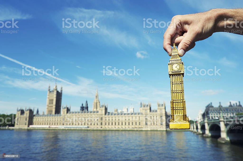 Big Ben Souvenir at Westminster Palace London stock photo