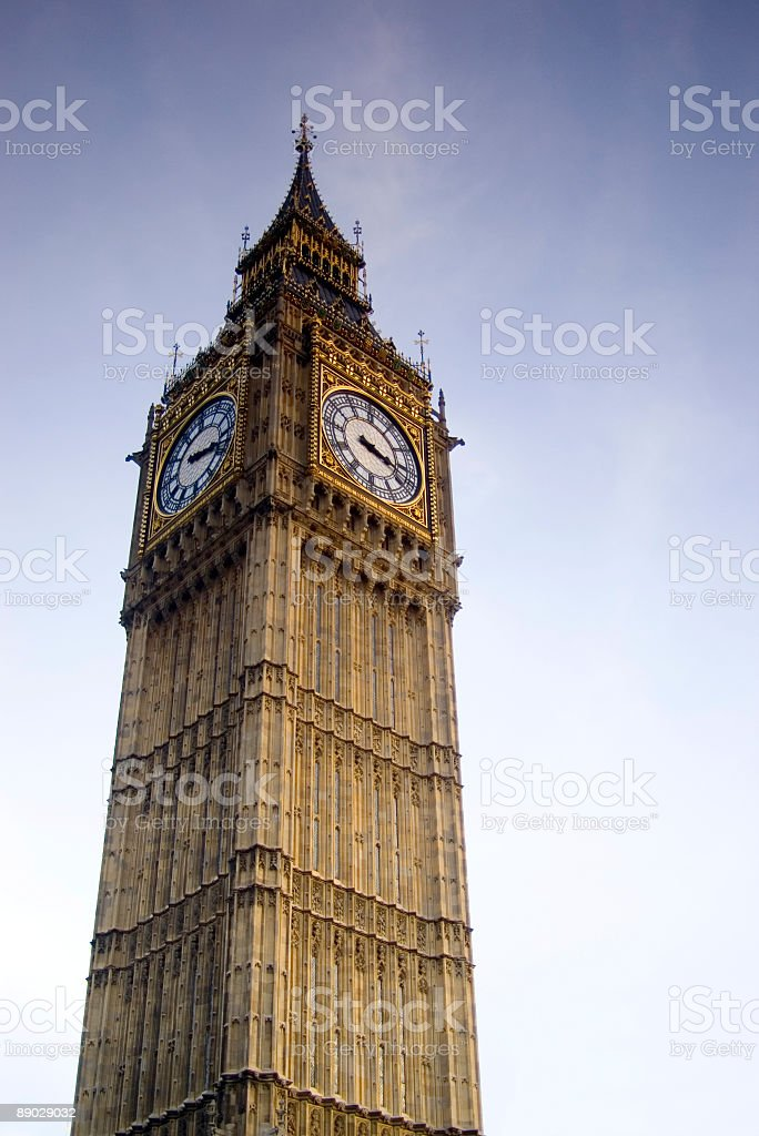 Big Ben, St. Stephens Tower, London royalty-free stock photo