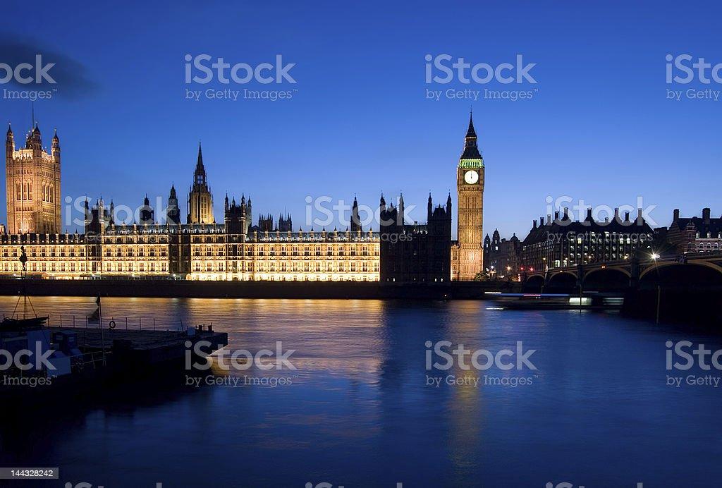 big ben stopped  at dusk royalty-free stock photo