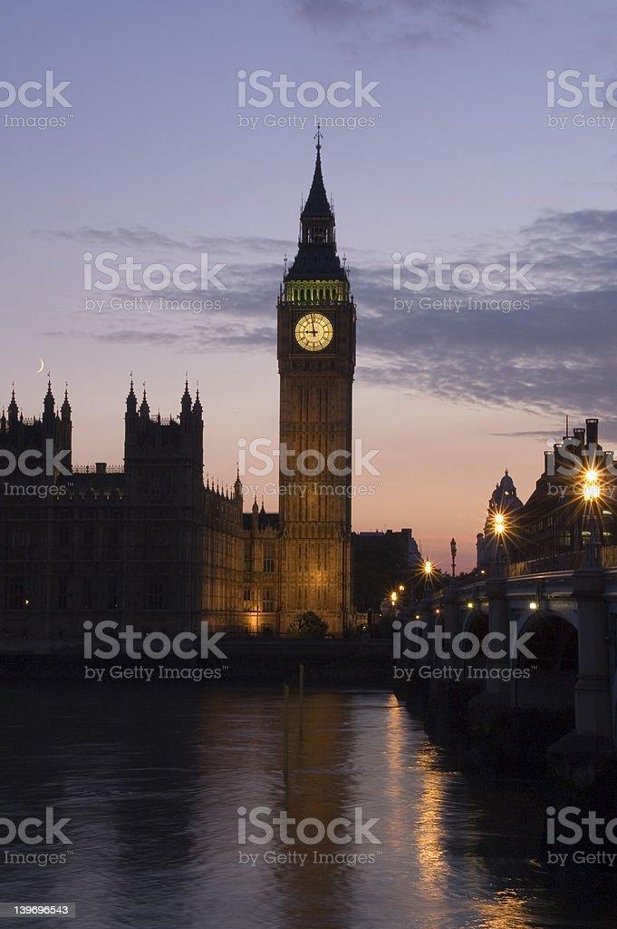 Big Ben Sunset royalty-free stock photo