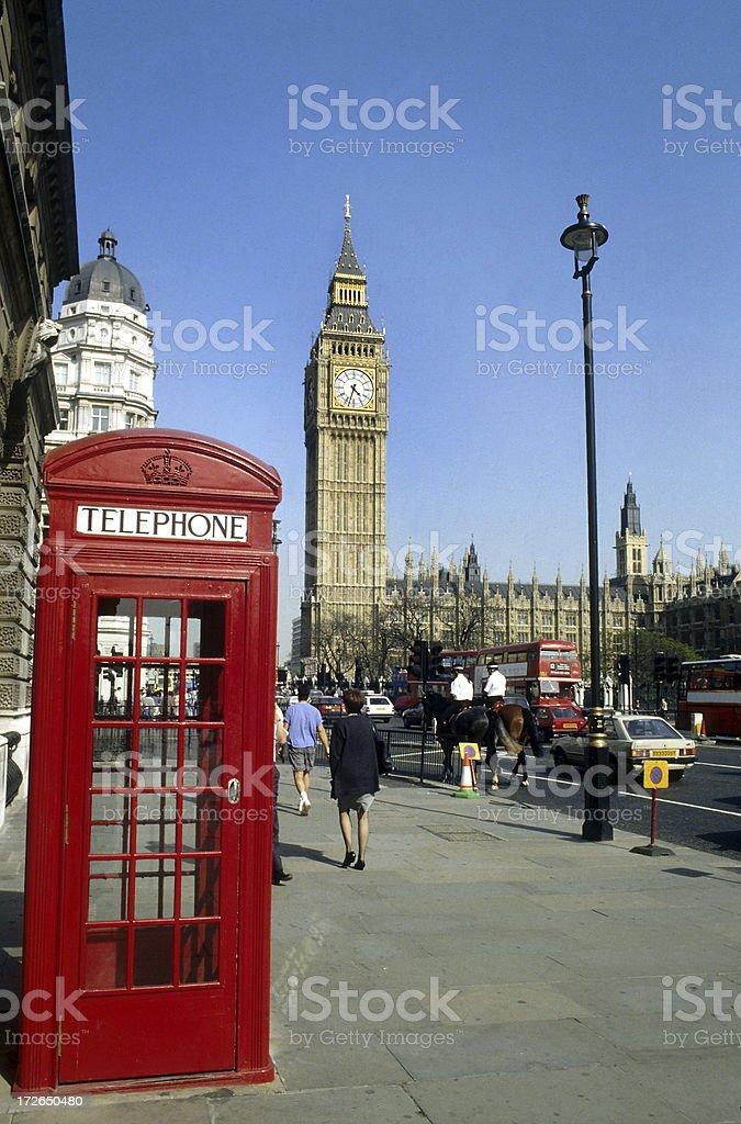 Big Ben telephone royalty-free stock photo