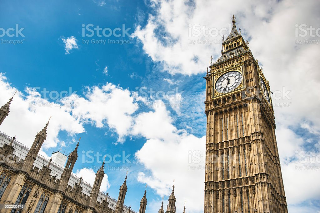 Big ben tower in london stock photo