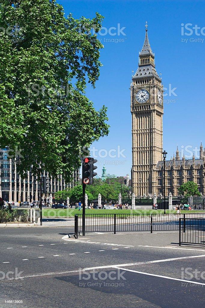 Big Ben Tower in Westminster, London, UK stock photo
