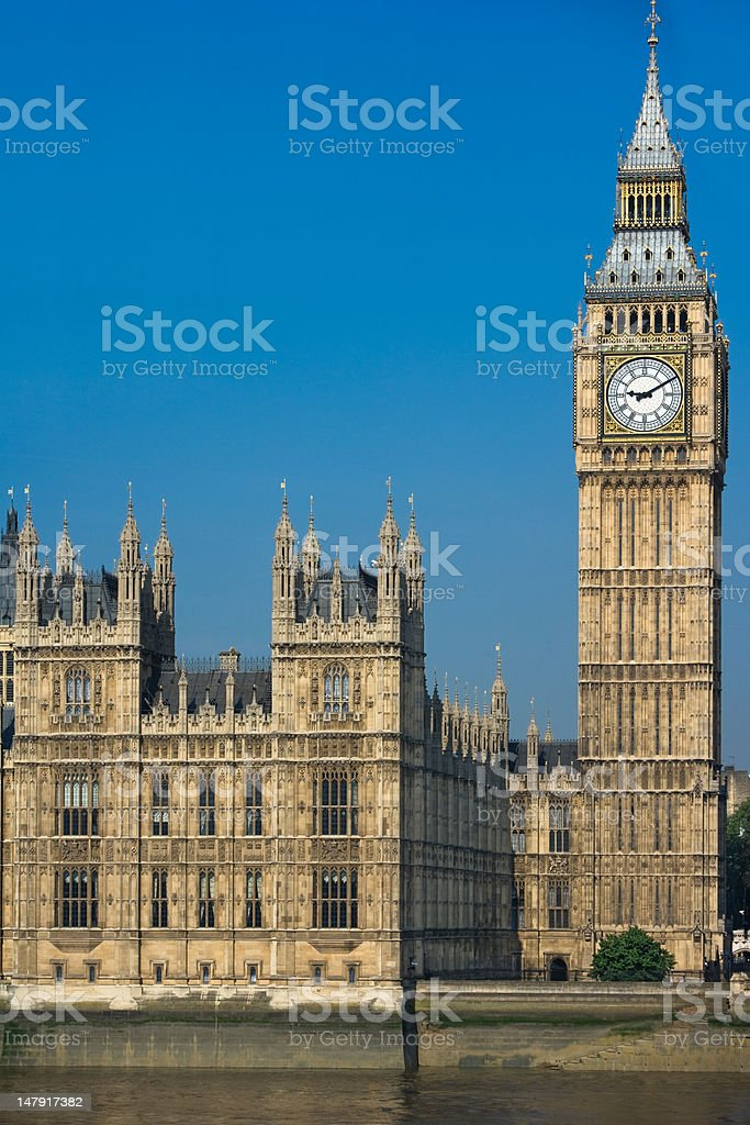 Big Ben Tower in Westminster royalty-free stock photo