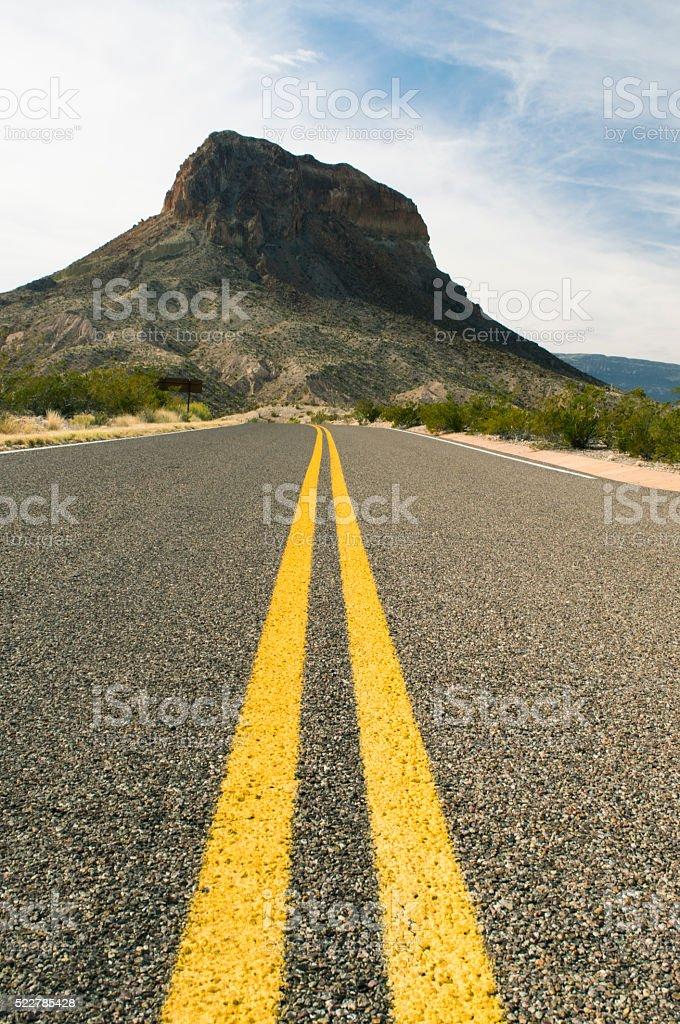 Big Bend National Park do not pass stock photo