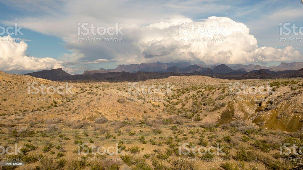 Big Bend National Park Panorama in January stock photo