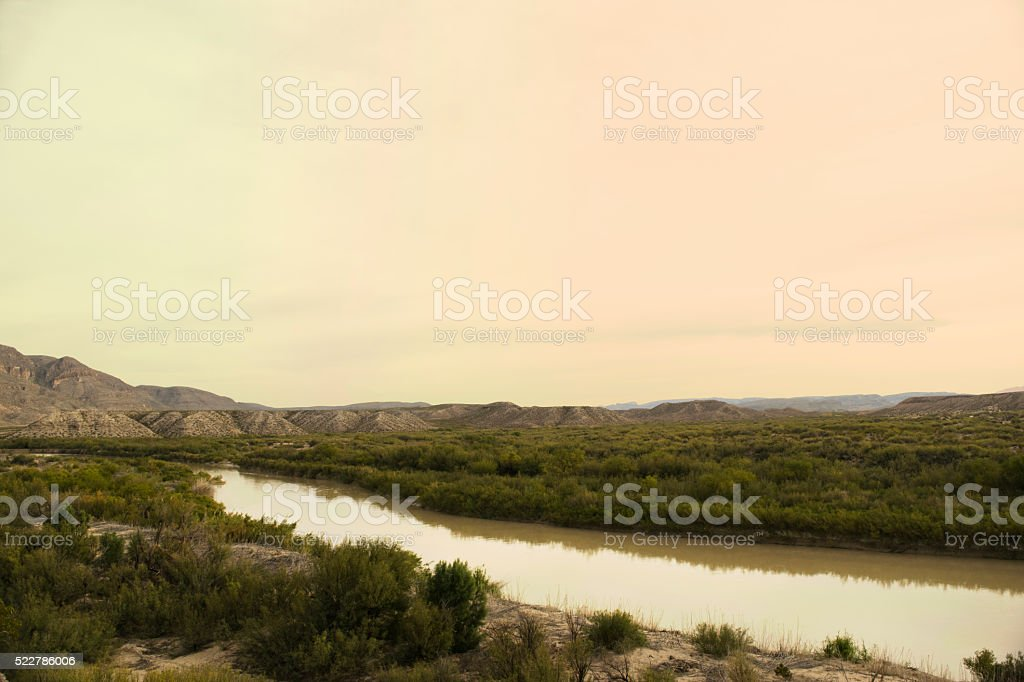 Big Bend National Park Rio Grande stock photo