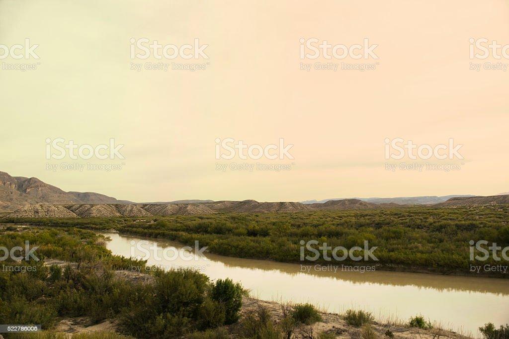 Big Bend National Park Rio Grande stock photo