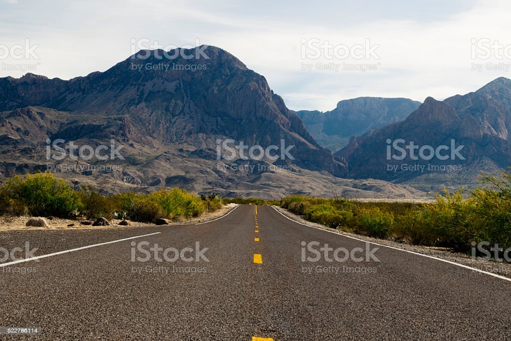 Big Bend National Park road stock photo