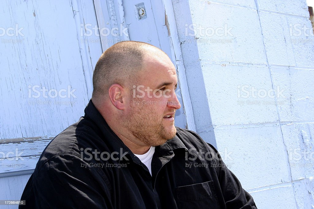 Big Biker Guy stock photo