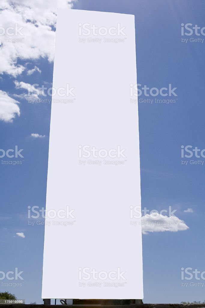 Big billboard over the blue sky royalty-free stock photo