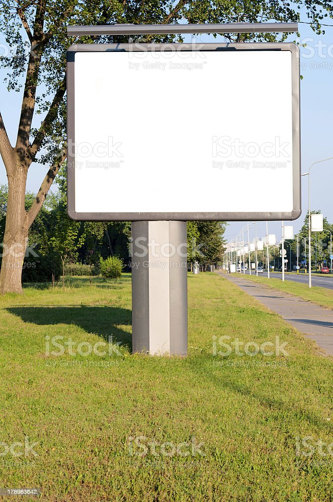 Big billboard royalty-free stock photo