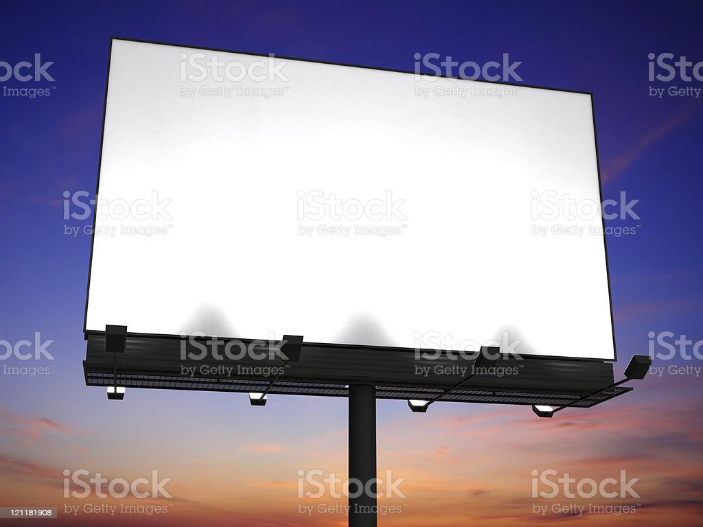Big billboard with blank space royalty-free stock photo