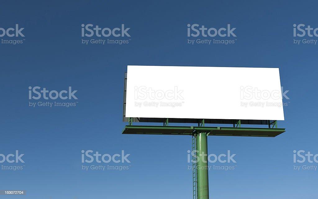 Gran cartelera. Con un espacio en blanco para dar su anuncio. - foto de stock