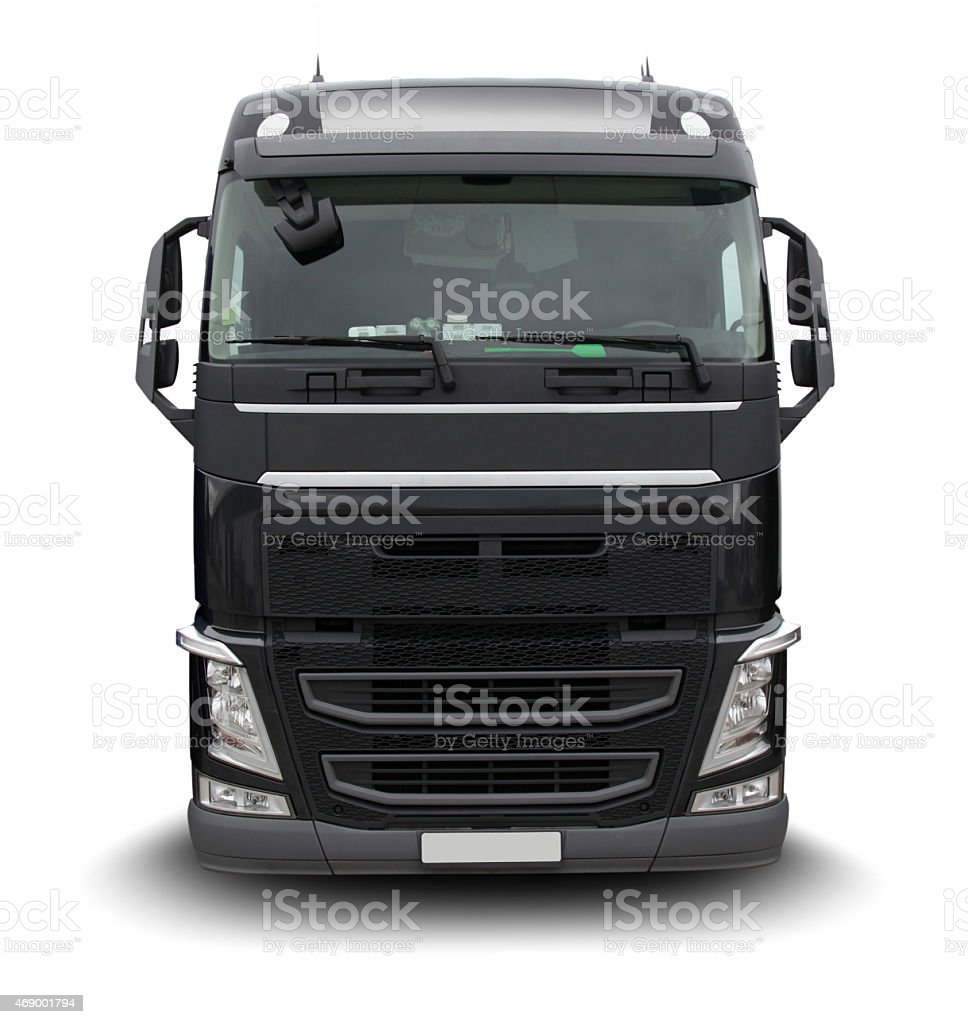 Big Black Truck (with clipping path) stock photo