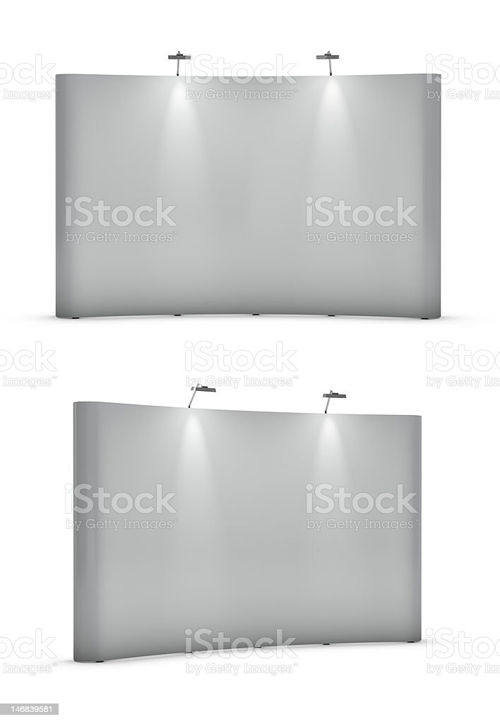 Big blank exhibition stands royalty-free stock photo