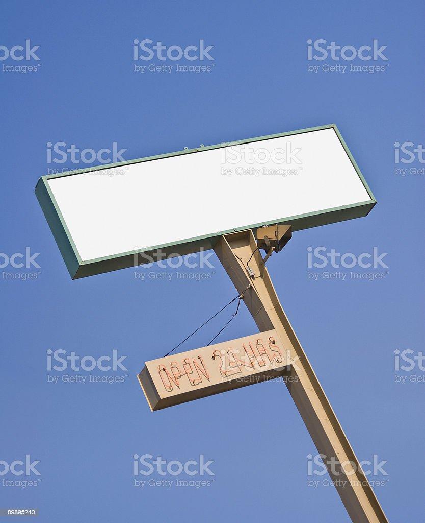 Big blank sign royalty-free stock photo