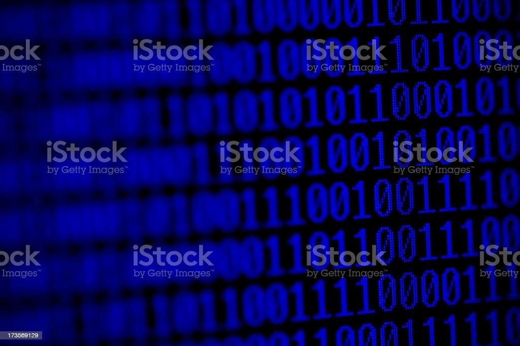 Big Blue Code royalty-free stock photo