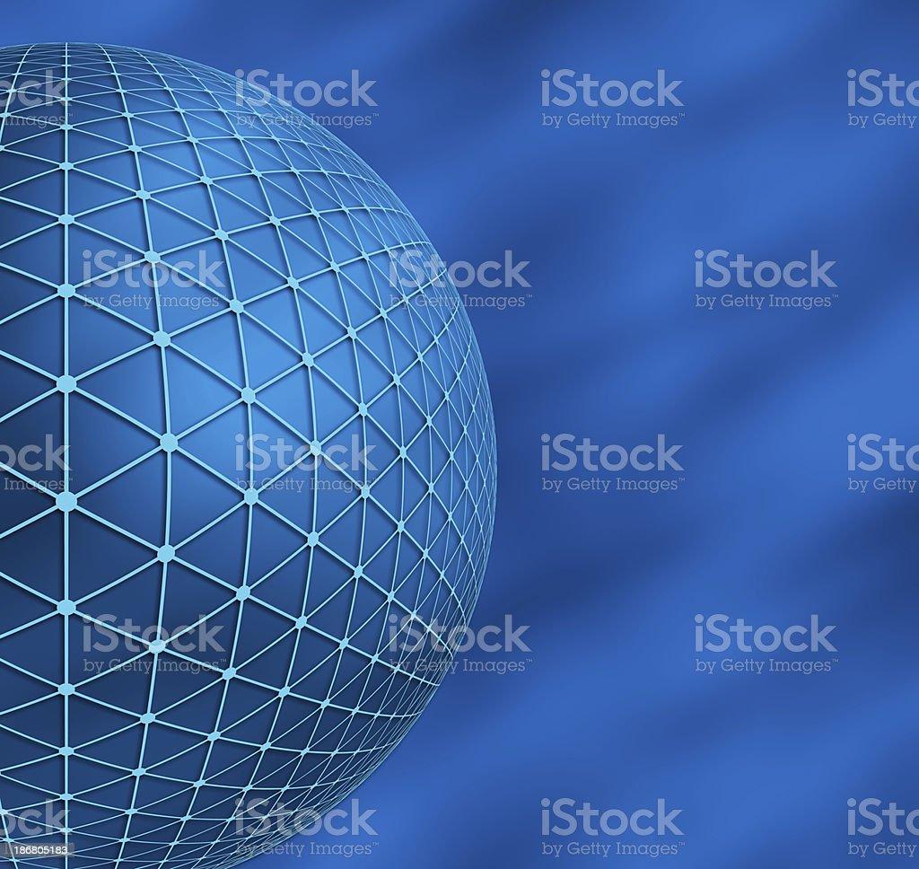 Big Blue Globe royalty-free stock photo