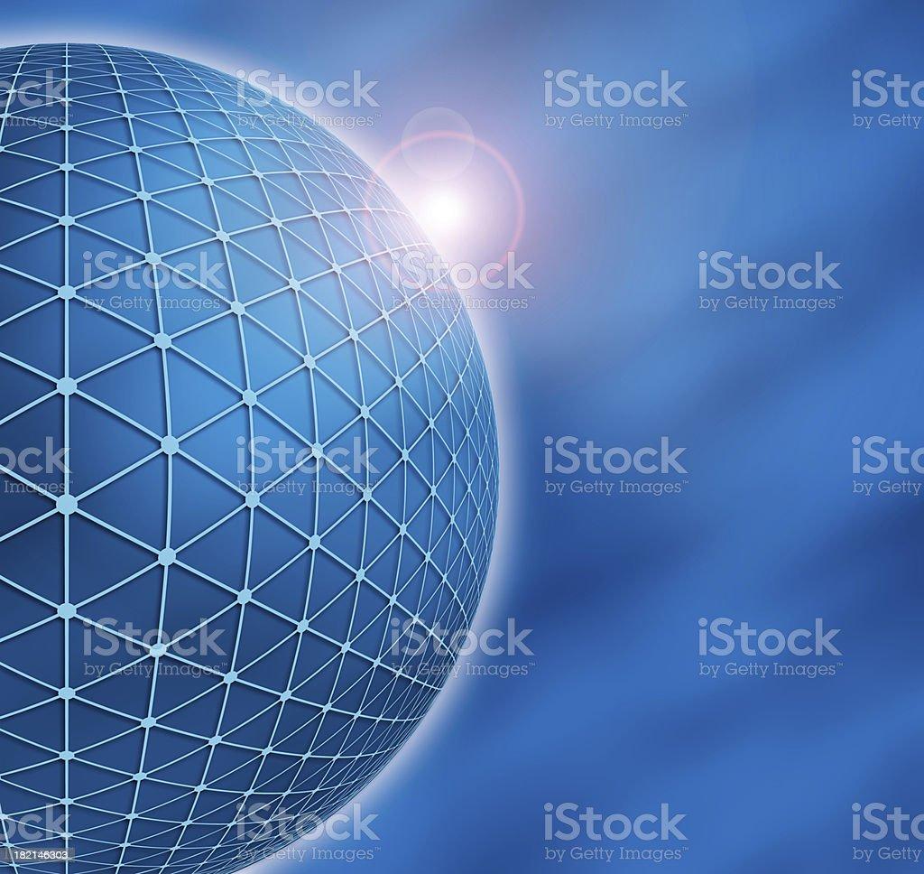 Big Blue Globe with Glow royalty-free stock photo